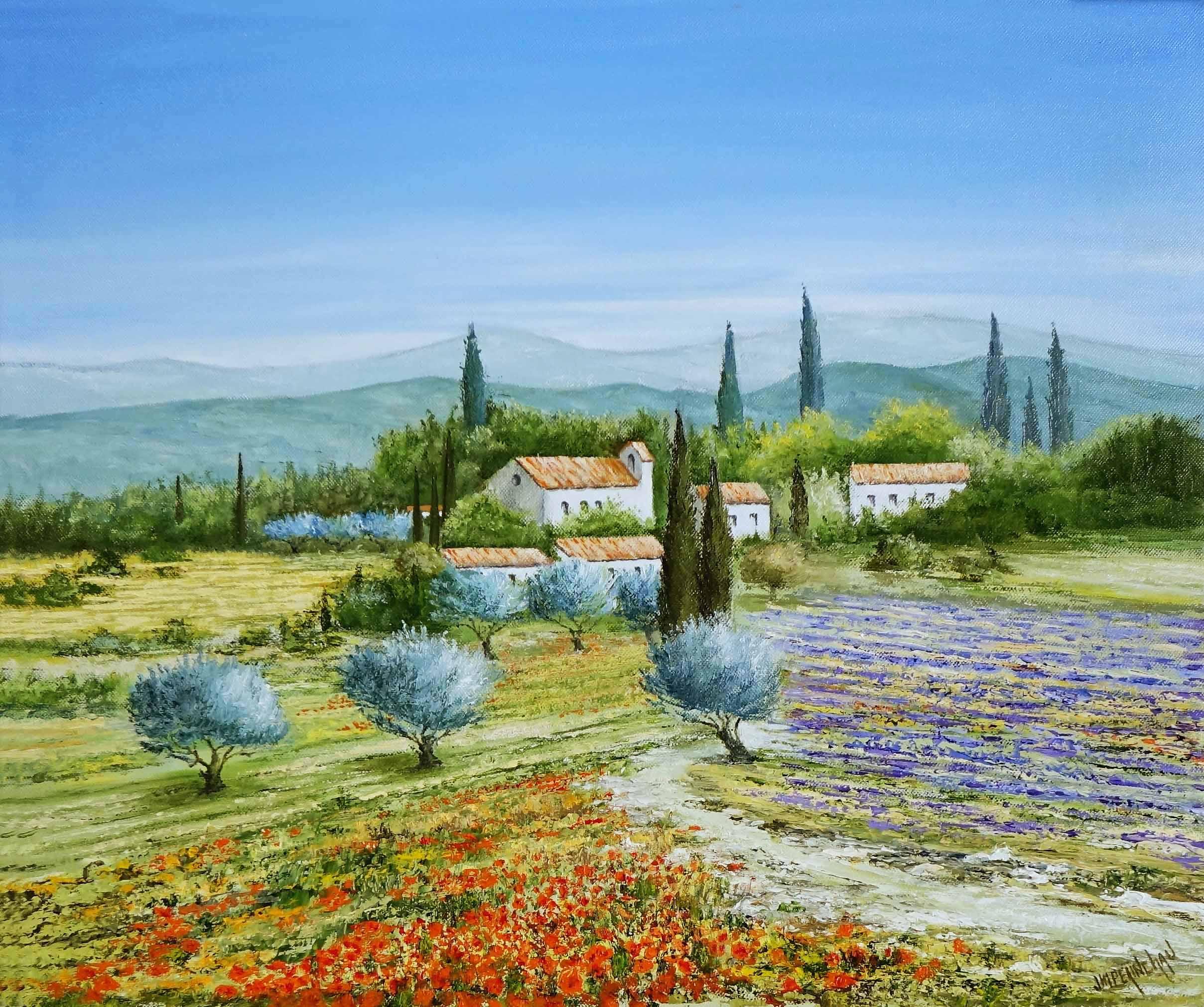 Eté en Hte Provence 55x46 cm