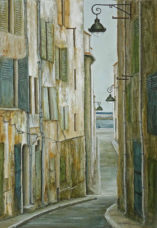 Rue vieille du port 38x55 cm